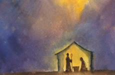 Artist Jennifer Diane Smith's rendering of a nativity scene