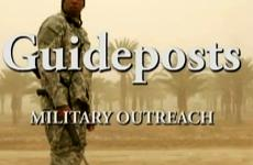 A soldier with Guideposts logo overlay