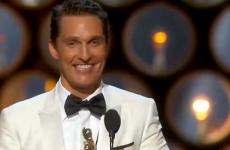 Matthew McConaughey accepts his award.