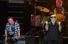 Guideposts: Bob Seger and Bruce Springsteen perform Old Time Rock and Roll before an enthusiastic crowd
