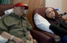 Veterans Augie Angerame and Frank Dibella in a VA hospital.