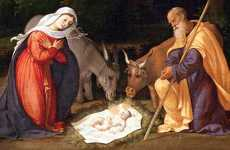 Jesus, Mary and Joseph in the manger